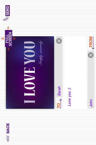 Greetin'Cards Lite free app screenshot 1