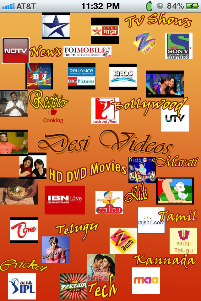 Desi Videos-India videos for Movies TV Shows News and Cooking videos in hindi tamil, telugu kannada gujarati marati and other languages free app screenshot 1