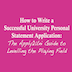 How to Write a Successful University Personal Statement Application: The Apply2Uni Guide to Levelling the Playing Field