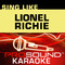 Sing Like Lionel Richie (Karaoke Performance Tracks)