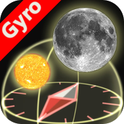 3D Sun&Moon Compass for iPhone4 (Gyroscope enabled) icon