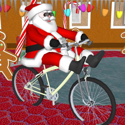 Santa on a Bike FREE