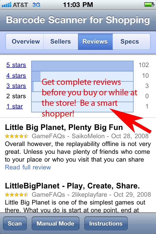 Barcode Scanner Shopping screenshot 4