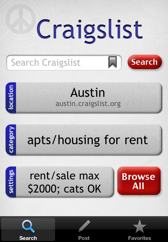 Craigslist Mobile for iPhone