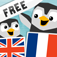 LinguPingu FREE - English French / Franais Anglais - children learn languages