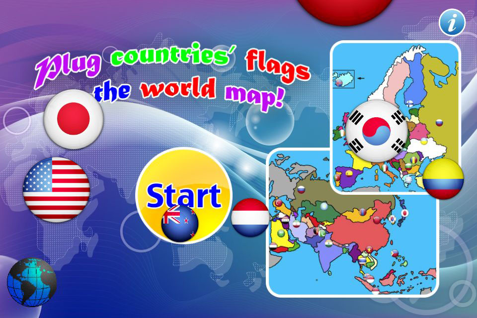7 continents country flags game(Asia,Europe,Africa,Oceania,North ...