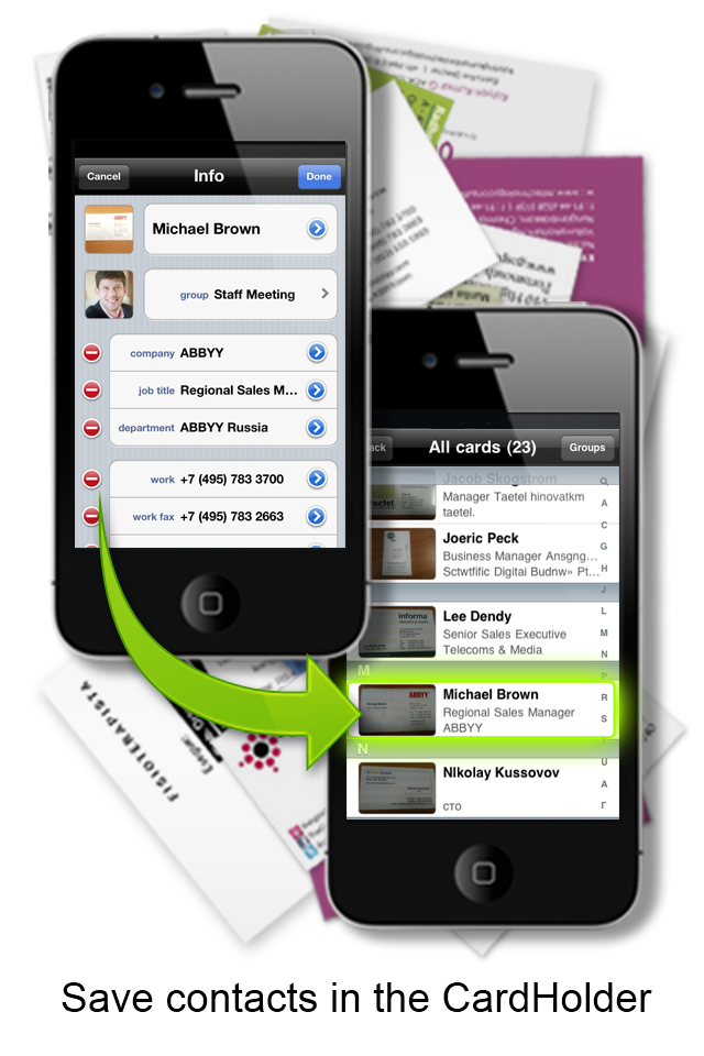 Beappy ABBYY Business Card Reader