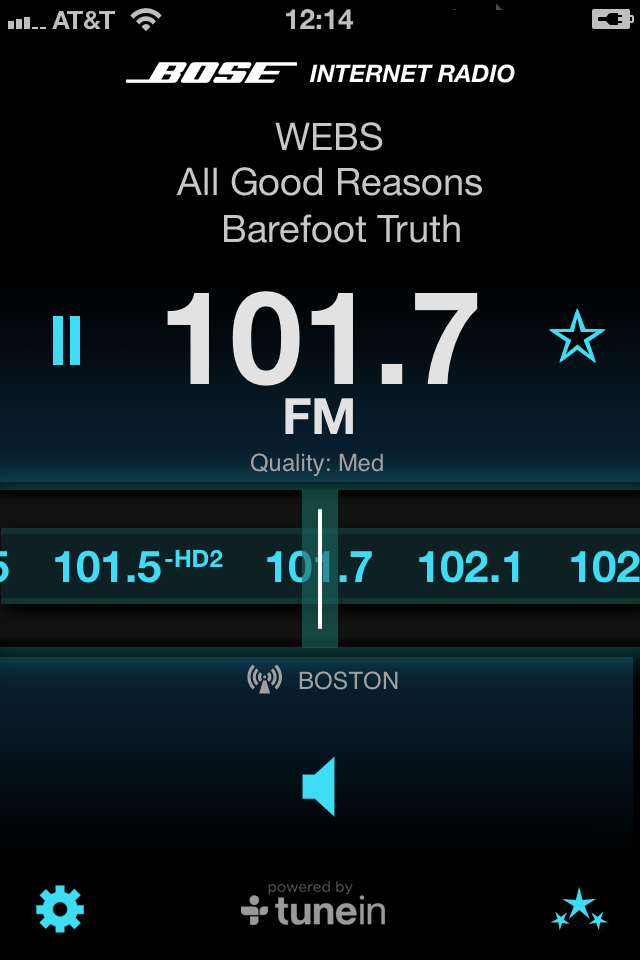 Bose Internet Radio App screenshot 1