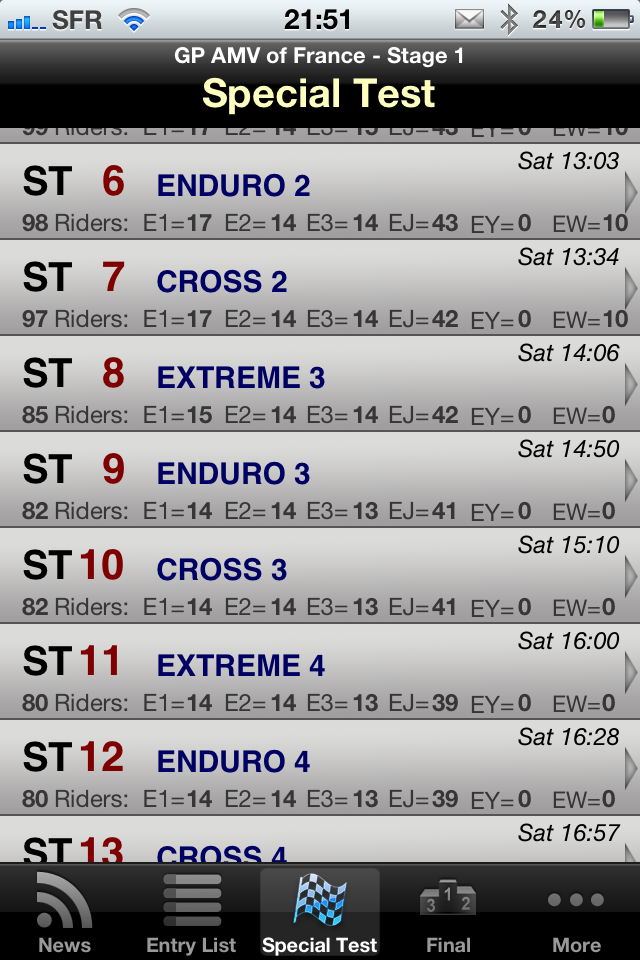 Image of Enduro Live for iPhone