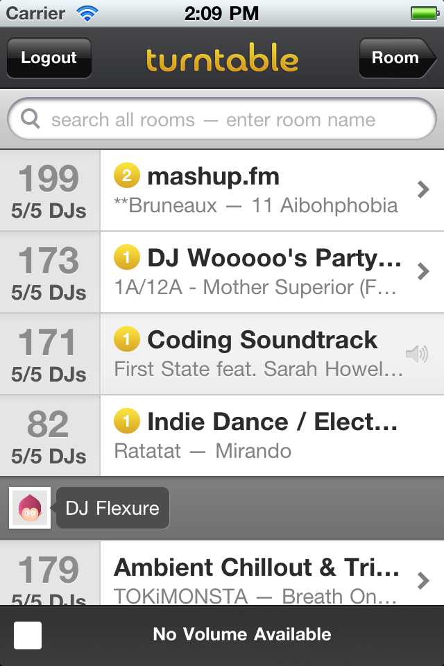 Socialize While Listening to Music With The Nifty 'Turntable.fm' for iPhone
