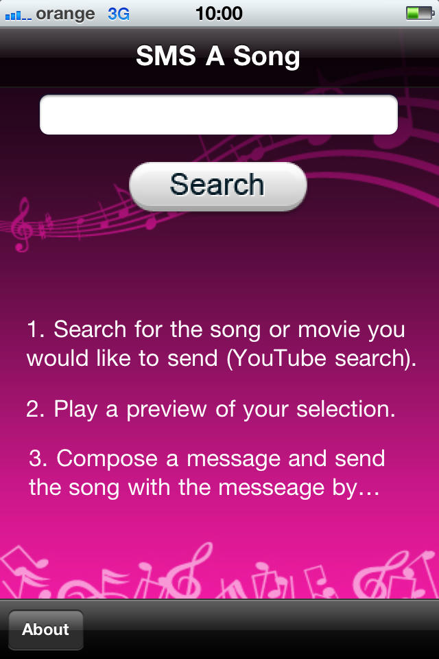 SMS A Song screenshot 1