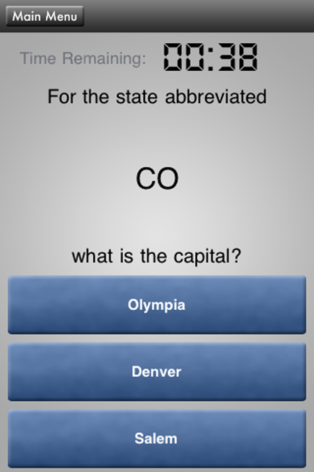 HowToSolve – State Capitals Pop Quiz Screenshot