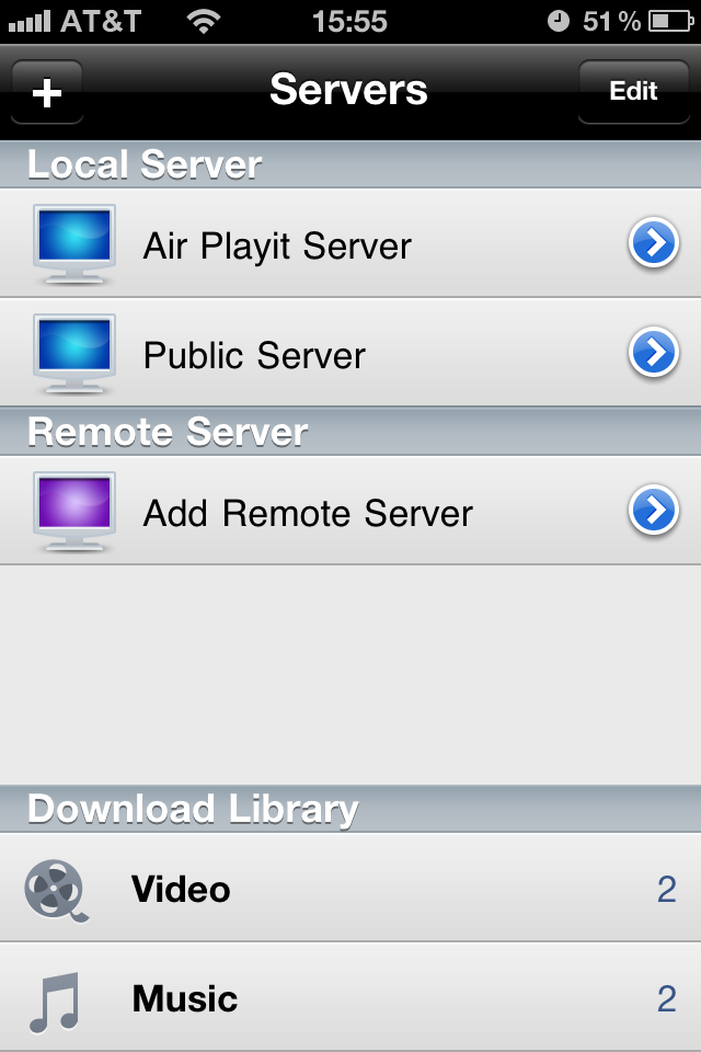 Air Playit - Streaming Video to iPhone free app screenshot 1