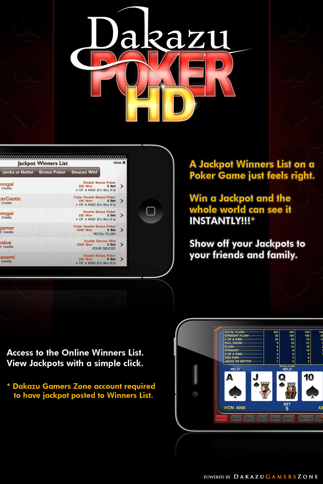 Dakazu Poker HD – Video Poker Screenshot