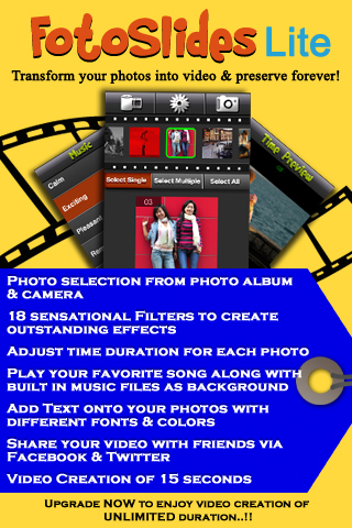 FotoSlides Lite- Convert photos to video slideshow free app screenshot 1