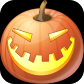 Halloween balloons icon