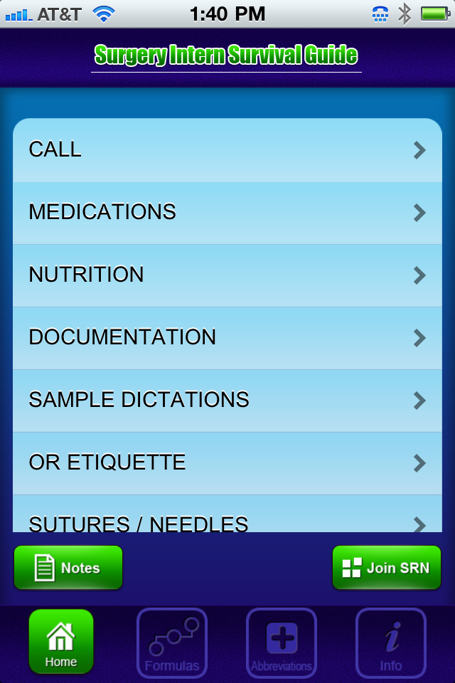 Surgical Intern Survival Guide App for Medical Students
