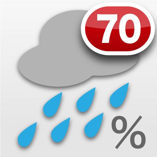 バッジで降水確率 - Toc