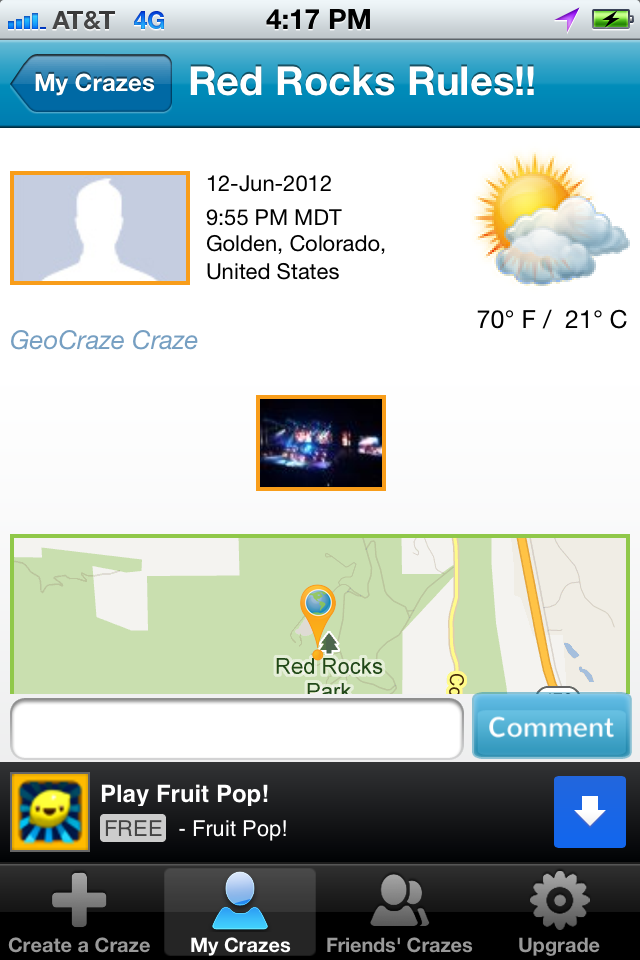 GeoCraze Screenshot