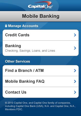 Capital One Mobile Banking screenshot 1