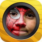 Kid Face : face paint booth icon