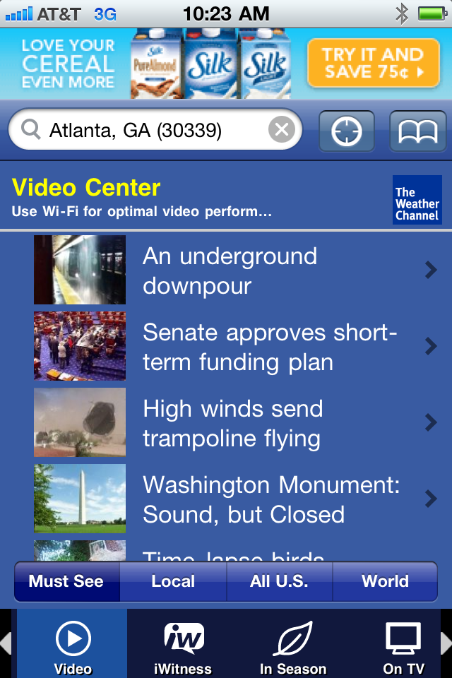 The Weather Channel screenshot 3