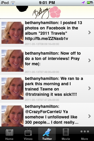 Bethany Hamilton News Screenshot
