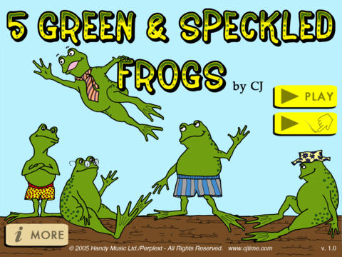 5 Green & Speckled Frogs iPad Screenshot 2