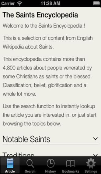 Saints Encyclopedia