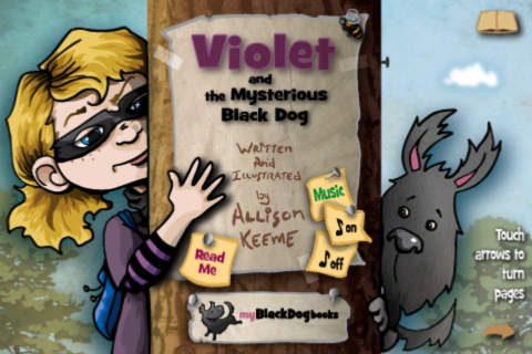 Violet and the Mysterious Black Dog - Interactive Storybook