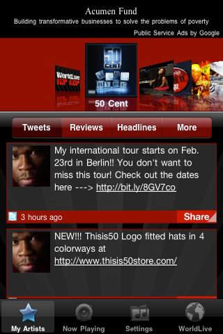 WorldLive Hip Hop iPhone Screenshot 3