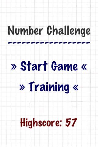 Number Challenge