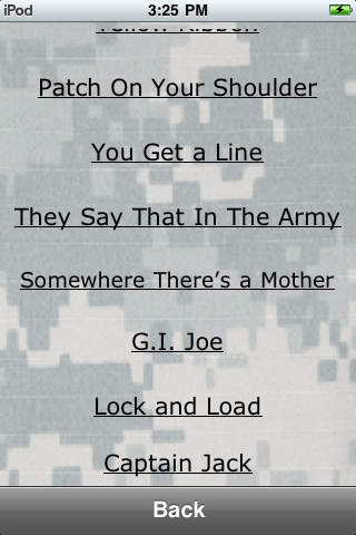 Military Cadences iPhone Screenshot 1