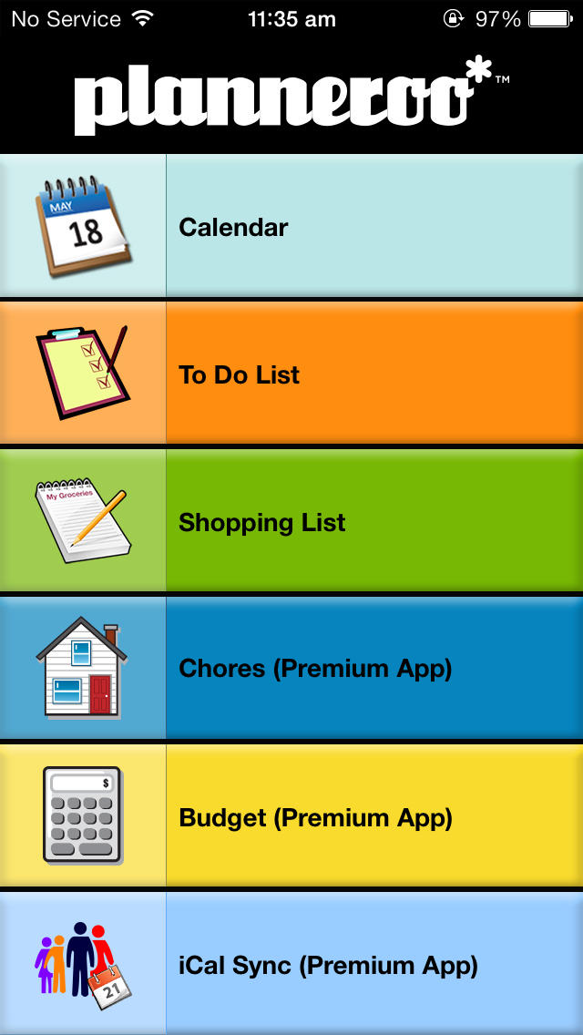 mom 39 s family planner by planneroo ios. Black Bedroom Furniture Sets. Home Design Ideas