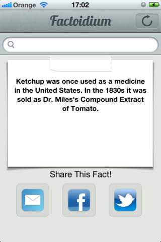 Factoidium - Over 10,000 Facts!! iPhone Screenshot 1