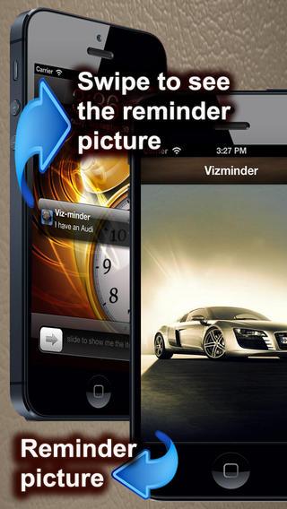 Vizminder-Pro Picture reminder+Slideshow+Voice Recorder for self affirmations