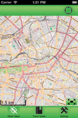 Berlin Offline Street Map iPhone Screenshot 1