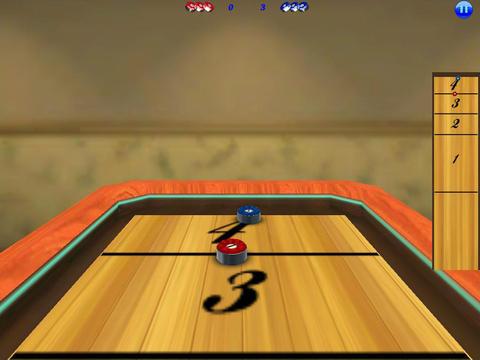 3D Shuffle-Board HD iPad Screenshot 1