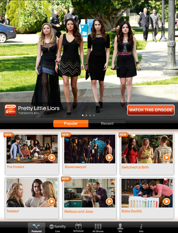 WATCH ABC Family - iPhone Mobile Analytics and App Store Data