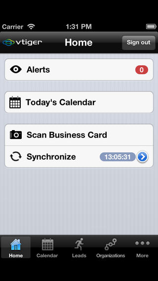 Vtiger CRM for iPhone