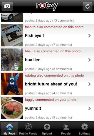 Rotzy Photo Sharing screenshot 1