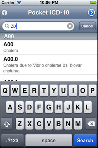 Pocket ICD screenshot 2