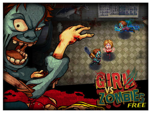 Girl vs Zombies HD Free iPad Screenshot 2