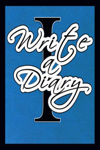 I Write a Diary