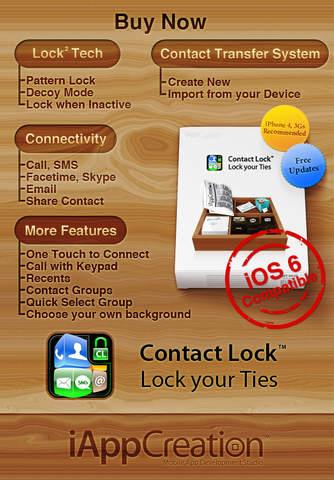 Contact Lock Free - Lock your Ties iPhone Screenshot 5