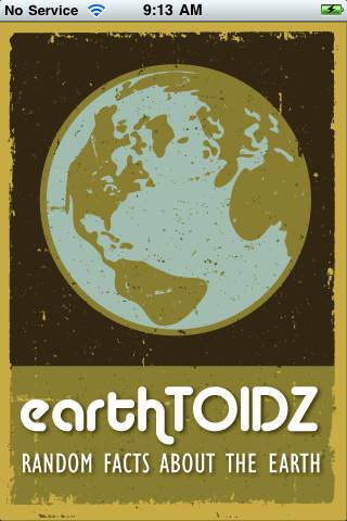 EarthTOIDZ Lite (fun earth facts!) iPhone Screenshot 1