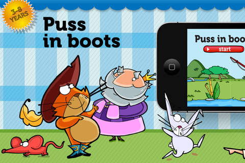 【免費書籍App】PUSS IN BOOTS. ITBOOK STORY-TOY.-APP點子
