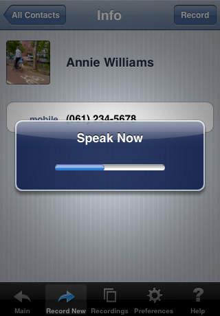 Voice Dial (speech recognition app) iPhone Screenshot 5
