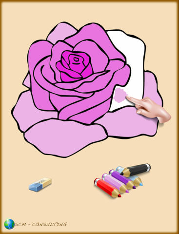 Coloring Book for Girls for iPad with colored pencils - 36 drawings to color with princesses fairies