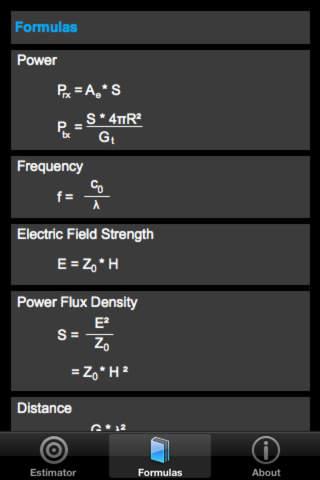 Field Strength & Power Estimator iPhone Screenshot 3